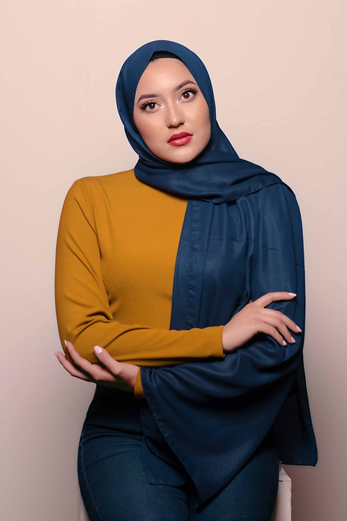 Metallic Cobalt Hijab
