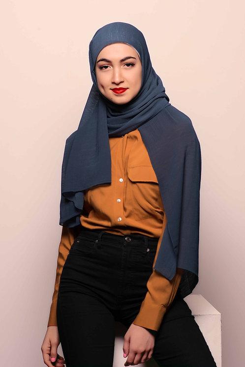 Navy Crinkle Hijab