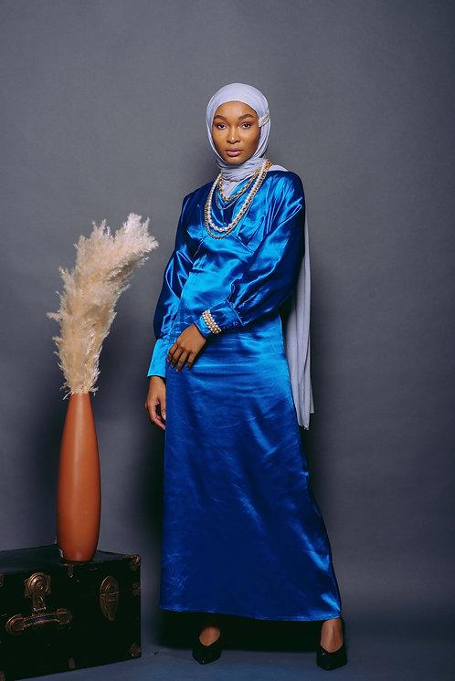 Sapphire Satin Dress
