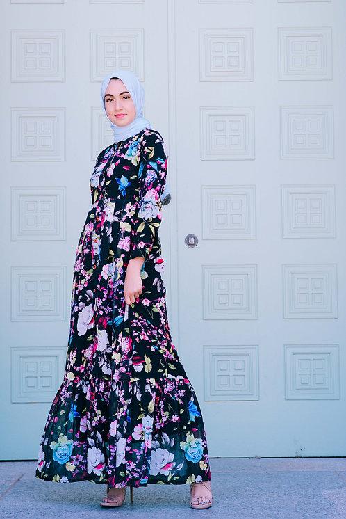 Floral Button-Up Dress