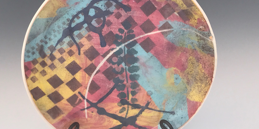 Monoprinting on Clay - Trays and Bowls