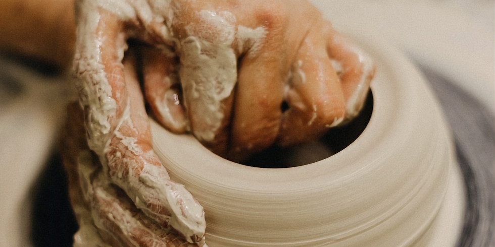 """Two People, Two Projects, Two Hours"""" mini pottery workshop at Pottery By Yvonne."""