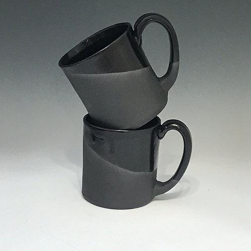 Ebony Oversized Black Stoneware Coffee Mug