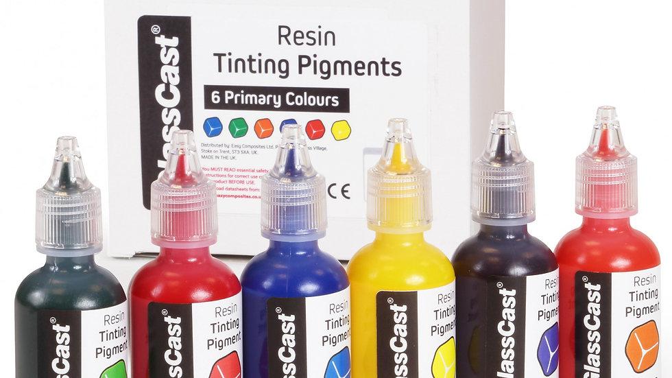 Fargetilsetninger til krystallklar epoxy etc