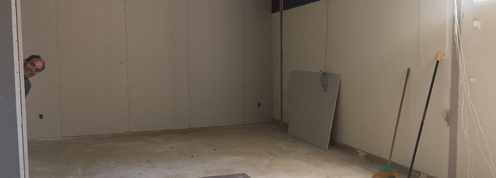"""Smaller room in new space """"before"""""""
