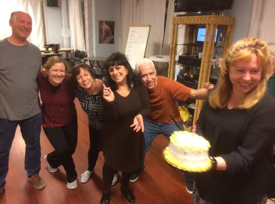 Celebrating Linda's Birthday