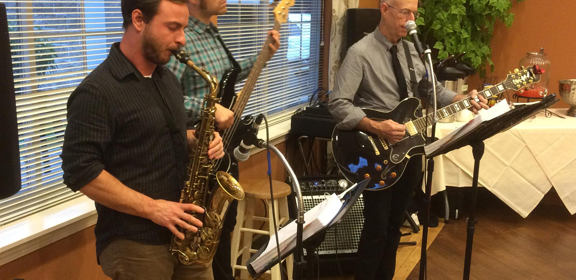 Pete Redmond's Crazy feet plays at local Community Center