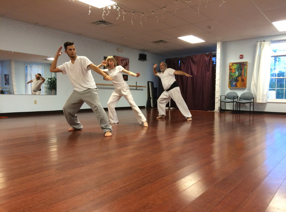 Llama Rangbar's Kung Fu class