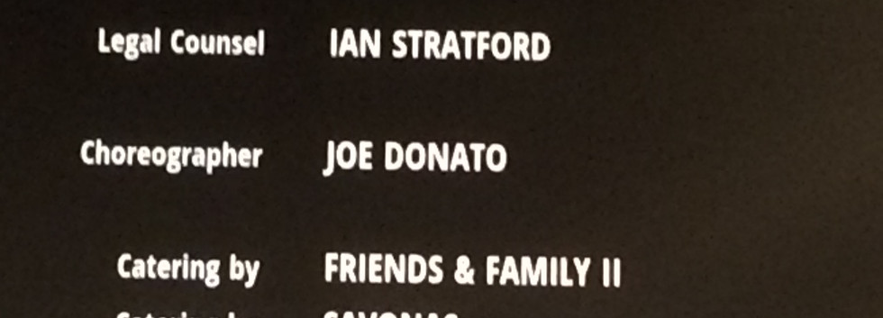 Joe's first movie credit