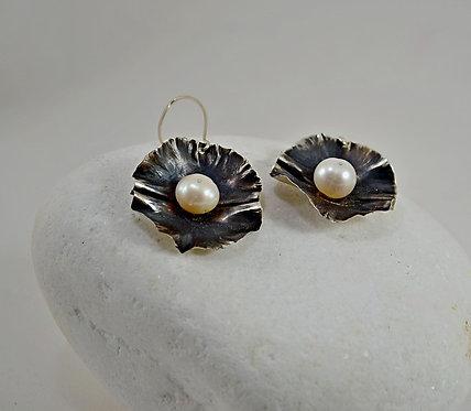 Ασημένια σκουλαρίκια με Μαργαριτάρι
