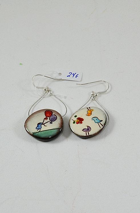 Κεραμικά σκουλαρίκια