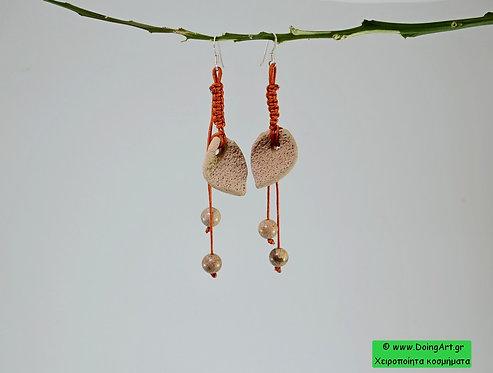 Κεραμικά Σκουλαρίκια σε Αρχαϊκή φόρμα.