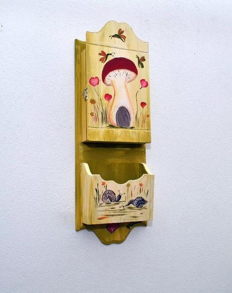 Χειροποίητη ξύλινη κλειδοθήκη
