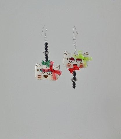 Κεραμικά Σκουλαρίκια με ματ Ονυχα