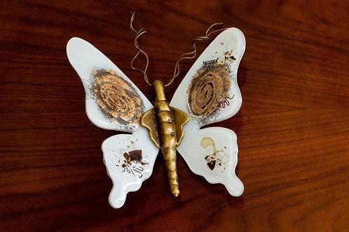Πεταλούδα επιτοίχια από φυσητό γυαλί μεγάλη