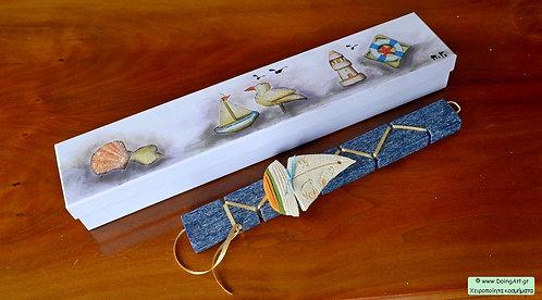 Λαμπάδα με χειροποίητο κεραμικό καράβι