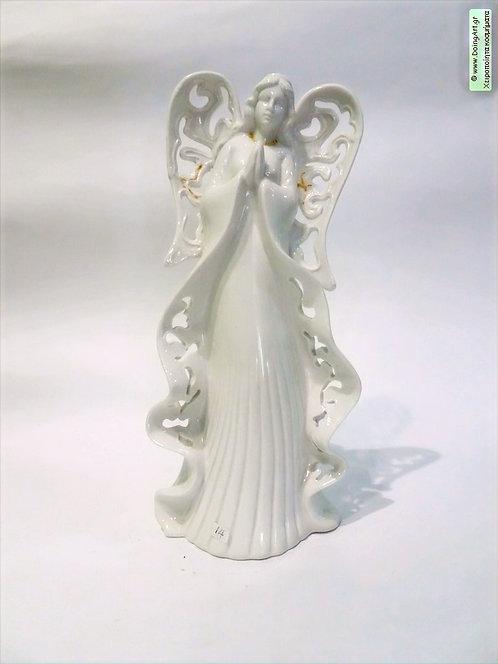 Άγγελος απο πορσελάνη με χρυσές γραμμές