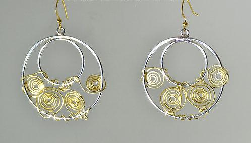 Ασημένια σκουλαρίκια Σπείρα