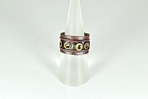 Σφυρήλατο δακτυλίδι με αλπακά και ορείχαλκο