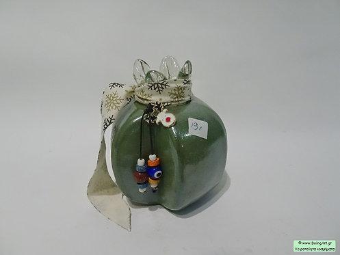 Μοντέρνο Χειροποίητο ρόδι murano πράσινο