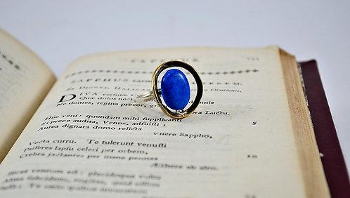Δακτυλίδι με πέτρα σοδαλίτη (sodalite)