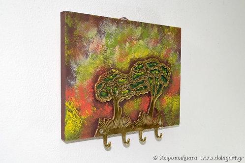 """Πίνακας - κρεμάστρα """"Δένδρα"""""""