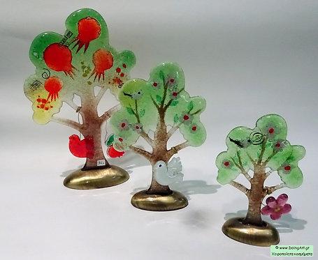 Δένδρα με τεχνική Fusion Glass από τον Michail art Glass