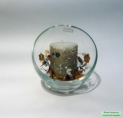 Σετ Κρυστάλλινο διακοσμητικό με κερί