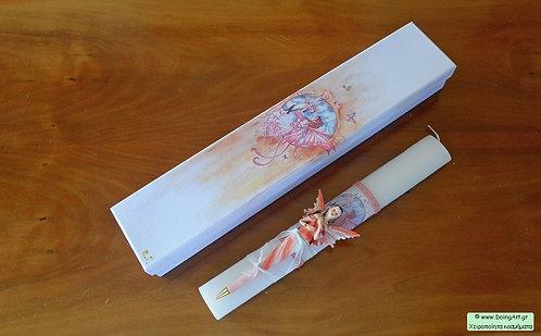 Λαμπάδα με στυλό νεράιδα #2
