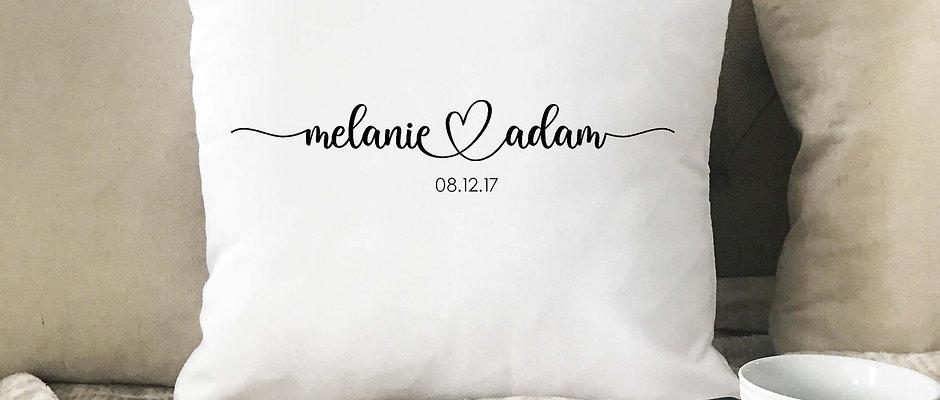 Wedding Names & Date Pillow