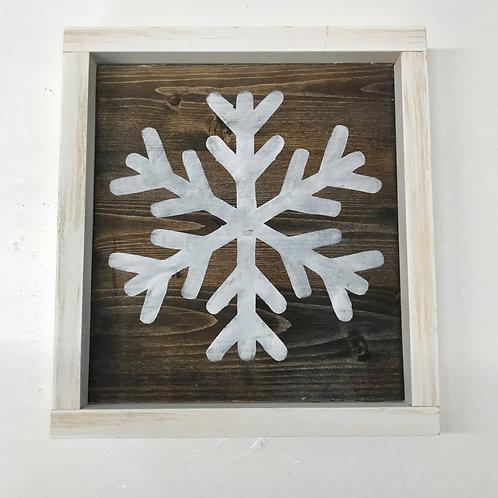 Rustic Snowflake Sign