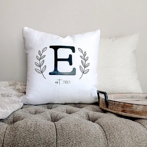 "Custom Monogram 18"" Throw Pillow"