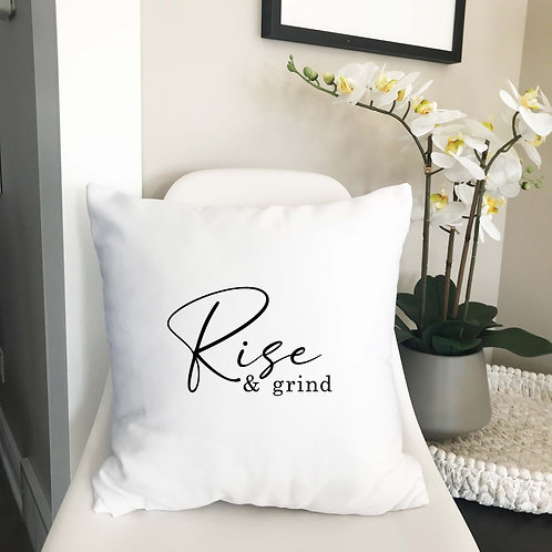 Rise and grind pillow cover