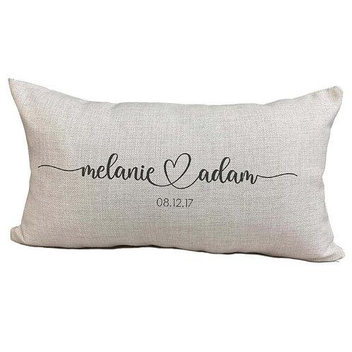 Wedding Couples Pillow Cover