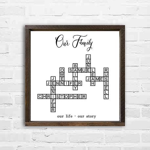 Large Family Names Crossword * 12-24 Names