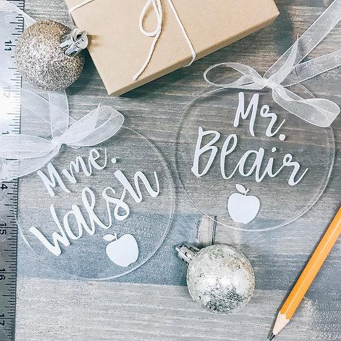 Teacher, Educator Custom Gift Ornament