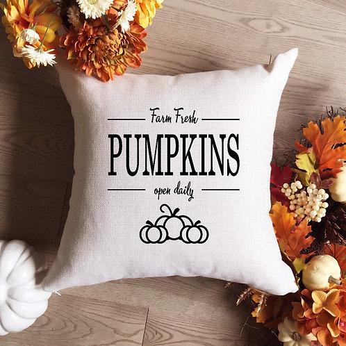 Fresh Pumpkins Pillow