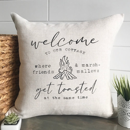 Get Toasted Pillow (cottage/trailer/lakehouse/cabin)