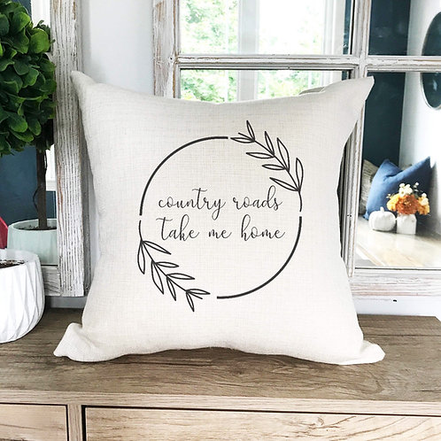 Country roads pillow cover