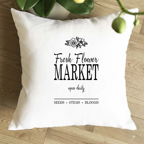 Flower Market Pillow