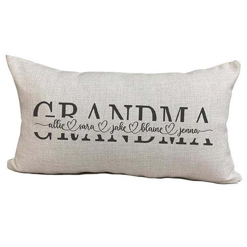 Mom/Grandma/Nana Pillow Cover