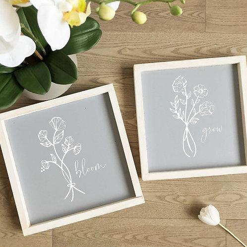 Bloom & Grow Sign Set