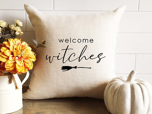 Welcome Witches Pillow
