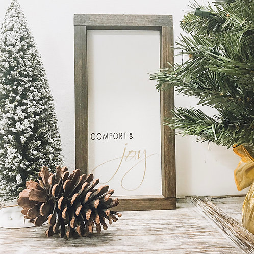 Comfort & Joy Mini Glitter Sign