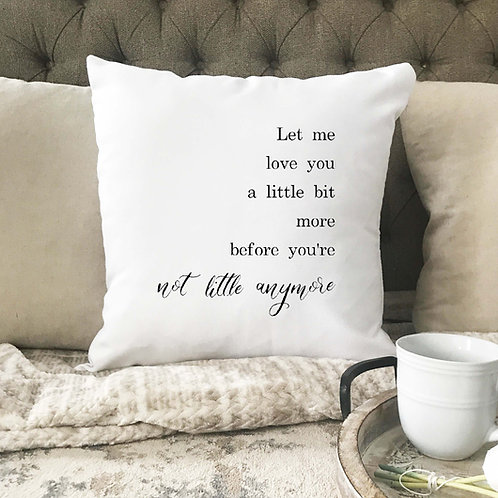 Before you're not little anymore pillow