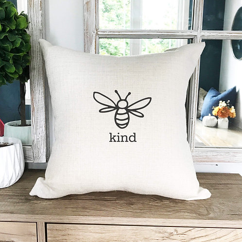 Bee kind pillow cover