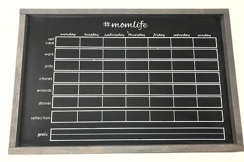#momlife Chalkboard Planner - Defect