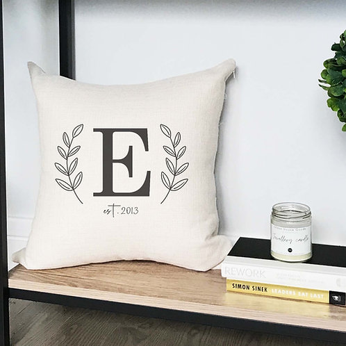 Custom Monogram Throw Pillow Cover