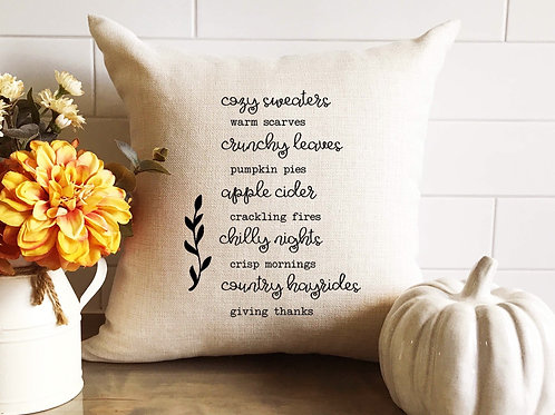 Cozy Sweaters Pillow