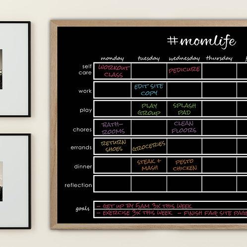 #MomLife Weekly Planner